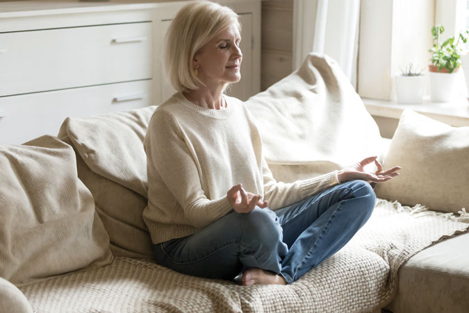 Senior Lady Meditating